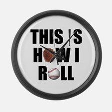 This Is How I Roll Baseball Large Wall Clock