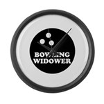 Bowling Widower Large Wall Clock