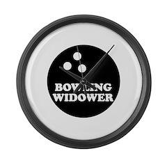 Bowling Widower Large Wall Clock