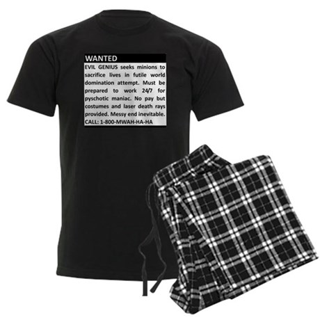 Evil Genius Personal Ad Men's Dark Pajamas