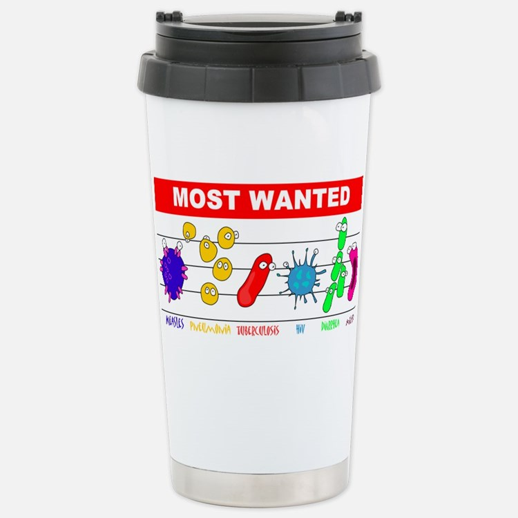 Most Wanted Poster Travel Mug