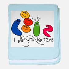 Play with Bacteria baby blanket