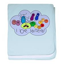 I Love Bacteria baby blanket