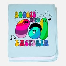 Boogie with Bacteria baby blanket