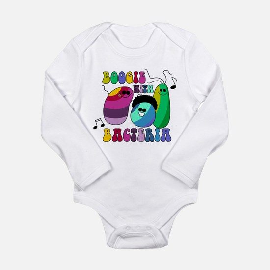 Boogie with Bacteria Long Sleeve Infant Bodysuit