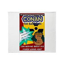 Conan the Bacterium Throw Blanket