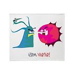 Germ Warfare Throw Blanket