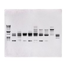 DNA Gel B/W Throw Blanket
