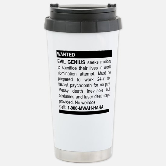 Evil Genius Personal Ad Stainless Steel Travel Mug