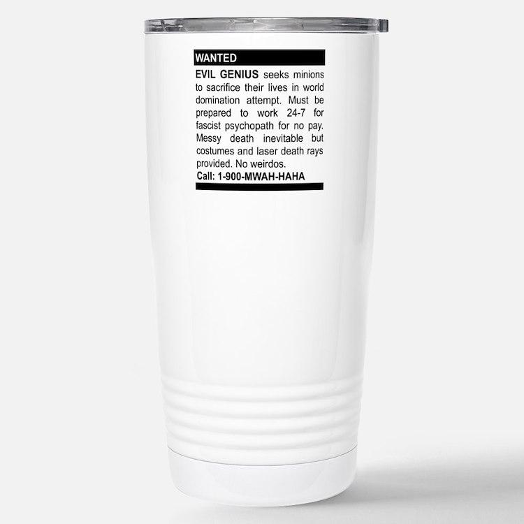 Evil Genius Personal Ad Stainless Steel Travel Mug