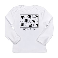 Dolly the Sheep Long Sleeve Infant T-Shirt