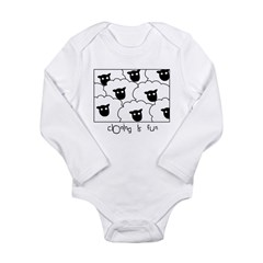 Dolly the Sheep Long Sleeve Infant Bodysuit