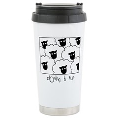 Dolly the Sheep Stainless Steel Travel Mug