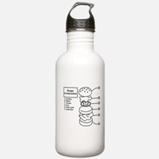 Burger Construction Water Bottle