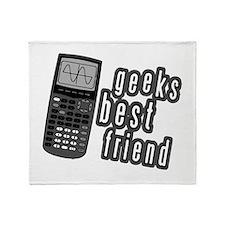 Geeks Best Friend Throw Blanket