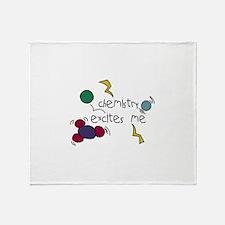 Chemistry Excites Me Throw Blanket
