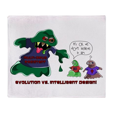 Evolution Vs ID Throw Blanket