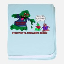 Evolution Vs ID baby blanket