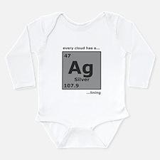Silver Lining Long Sleeve Infant Bodysuit