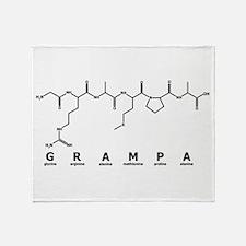 Grampa Peptide Throw Blanket
