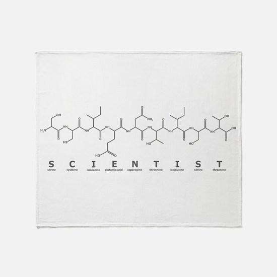 Scientist Peptide Throw Blanket