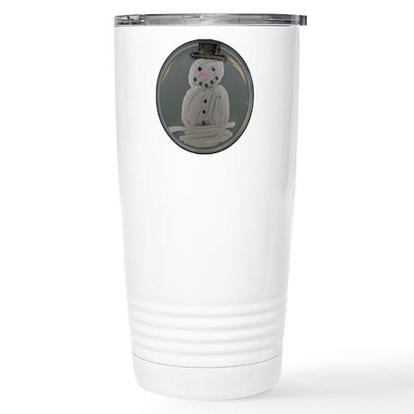 Snowman Stainless Steel Travel Mug
