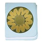 Sunflower baby blanket