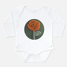 Red Rose Long Sleeve Infant Bodysuit