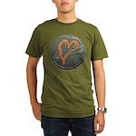 Heart Organic Men's T-Shirt (dark)