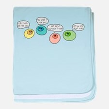 T Cell Wars baby blanket
