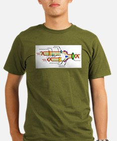 DNA Synthesis Organic Men's T-Shirt (dark)