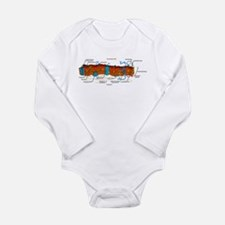 Cell Membrane Long Sleeve Infant Bodysuit