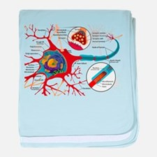Neuron cell baby blanket