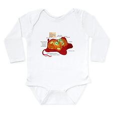 Animal Cell Long Sleeve Infant Bodysuit