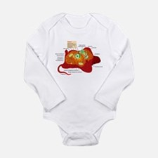 Animal Cell Long Sleeve Infant Bodysuit
