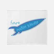 Future Rocket Scientist Throw Blanket