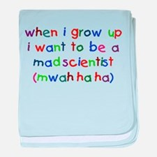 Grow Up - Mad Scientist baby blanket
