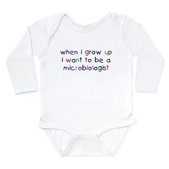 Grow Up - Microbiologist Long Sleeve Infant Bodysu