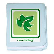 Love Biology (Leaf) baby blanket