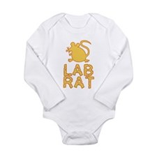 Cheese Lab Rat Long Sleeve Infant Bodysuit