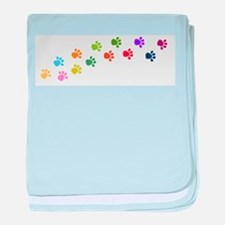Paw prints baby blanket