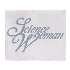 Science Woman Throw Blanket