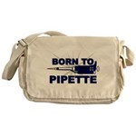 Born to Pipette Messenger Bag