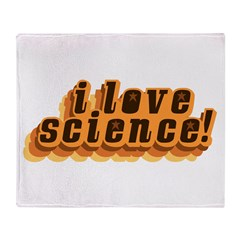Love Science Retro Throw Blanket
