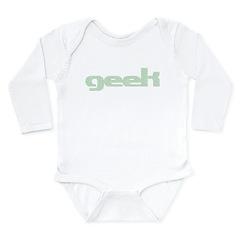 Binary Geek Long Sleeve Infant Bodysuit