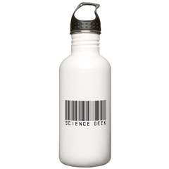 Barcode Science Geek Water Bottle
