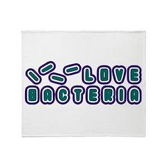 Love Bacteria Throw Blanket