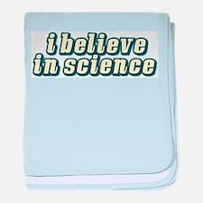 Believe in Science baby blanket