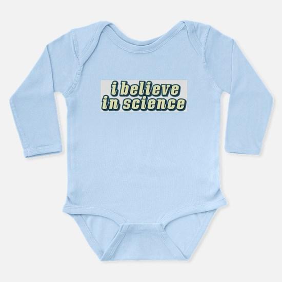 Believe in Science Long Sleeve Infant Bodysuit