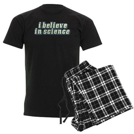 Believe in Science Men's Dark Pajamas